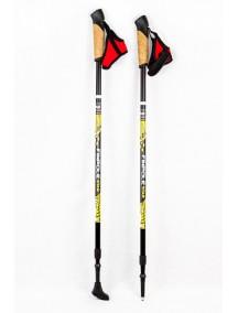 Finpole STAR Черные палки для скандинавской ходьбы