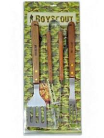 Boyscout набор для барбекю «Базовый» высококачественная сталь деревянные рукоятки