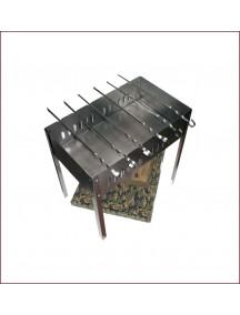 Boyscout с шампурами в пленке стальной сборный мангал