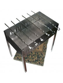 Boyscout с шампурами в коробке стальной сборный мангал