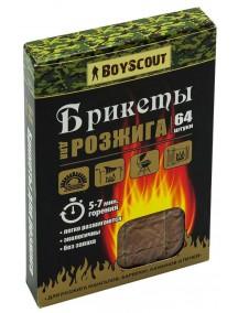 "Boyscout ""64 брикета"" брикеты для розжига"