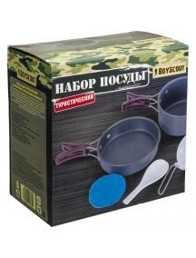 """Boyscout """"Туристический"""" алюминиевый набор посуды"""