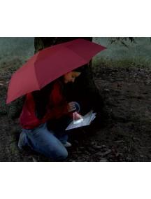 Зонт Euroschirm Light trek с фонариком, цвет красный