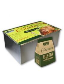 Универсальная коптильня из нержавеющей стали Gurman, размер L (2 яруса)