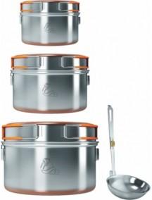 Набор из 3-х кастрюль Kovea NZ 0.9-1.5-2.4 (нержавеющая сталь)