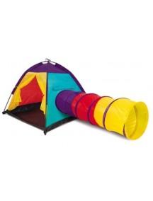 Игровая палатка с туннельной трубой