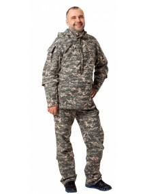 Защитный мужской костюм Биостоп КМФ1 зеленый от клещей и кровососущих насекомых