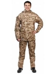Защитный мужской костюм Биостоп КМФ2 песочный от клещей и кровососущих насекомых