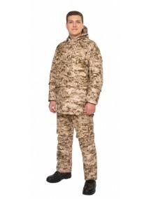 Защитный мужской костюм Биостоп Оптимум песочный от клещей и кровососущих насекомых
