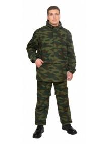 Защитный мужской костюм Биостоп Лайт КМФ 3 зеленый камуфляж от клещей и кровососущих насекомых