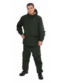 Защитный мужской костюм Биостоп Лайт КМФ 5 охотничий/зеленый от клещей и кровососущих насекомых