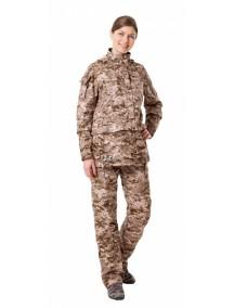 Защитный женский костюм Биостоп КМФ 2 песочный от клещей и кровососущих насекомых