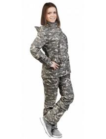 Защитный костюм Биостоп для подростков от 12 лет ПЭ-3 КМФ 1 зеленый от клещей и кровососущих насекомых