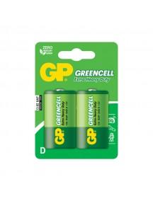 Батарейка GP Greencell D R20-2BL (13G-2CR2)- Тип D - 2 штуки в упаковке